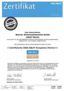 Werner Sicherheitstechnik Assa Abloy Kompetenzpartner