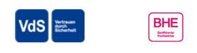 Werner Sicherheitstechnik und Alalrmanlagen sind vds und bhe zertifiziert