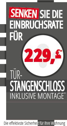 Werbe Anzeige Stangenschloss ab 229 Euro