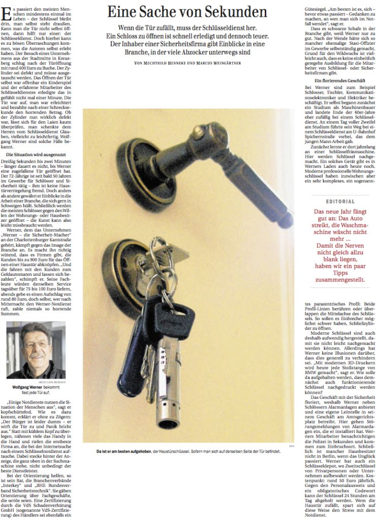 Artikel Werner Sicherheitsmacher Berliner Zeitung 201701