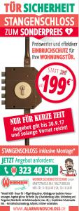 Werner Anzeige Stangenschloss Angebot