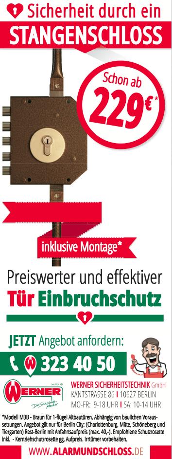 Werner Anzeige Stangenschloss