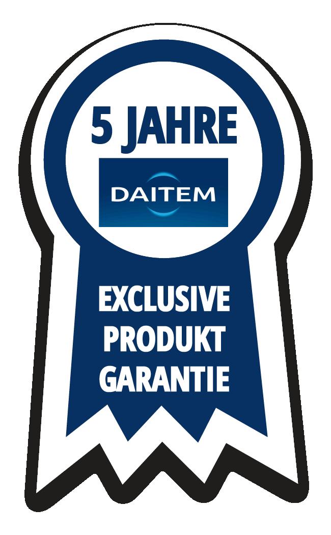 Daitem 5 Jahre Exclusive Produktgarantie
