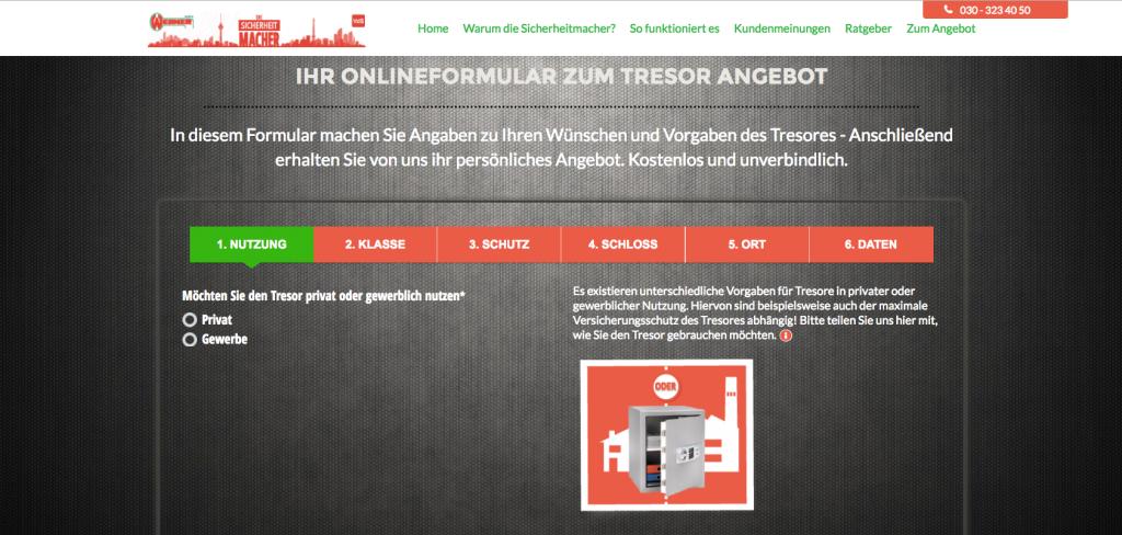 Vorschau Onlineberater Tresore