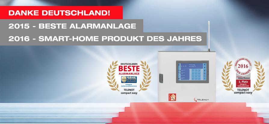 compact easy Telenot - Auszeichnung