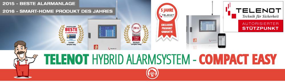 telenot compact easy Alarmanlage beste Alarmanlage Testsieger Funkalarm Kabel Smart Home