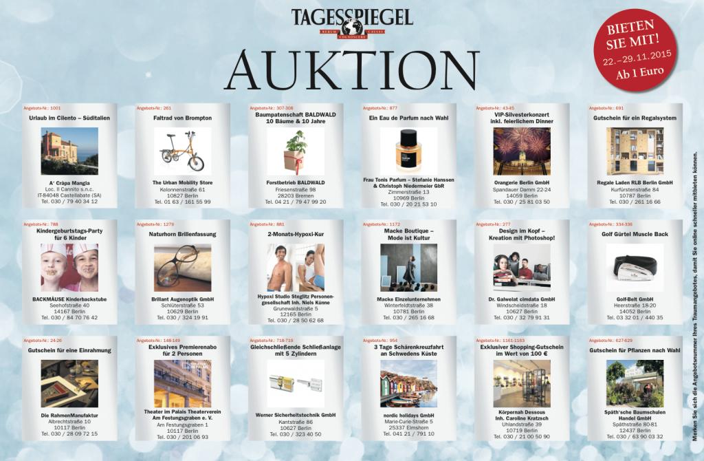 Auktion im Tagesspiegel