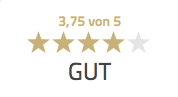 Bewertung 3,75 von 5