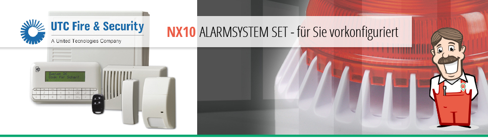 UTC Alarmsystem NX10 Set Alarmanlage