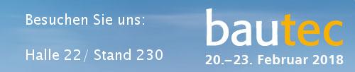 Bautec 2018 Banner Halle 22b Stand 230