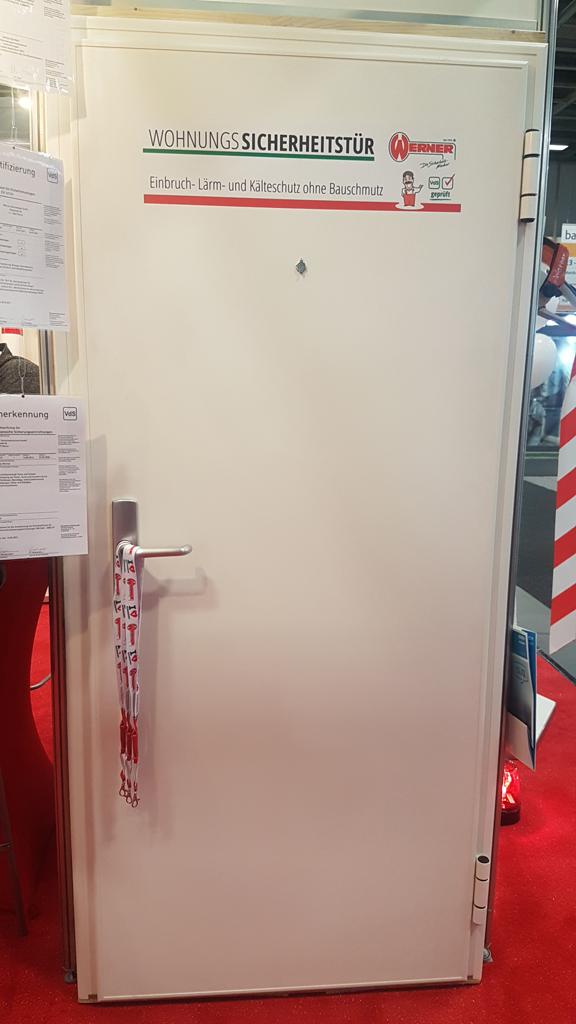 Bautec 2018 Wohnungssicherheitstür