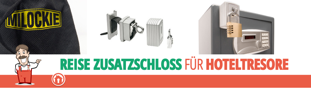 Milockie Tresor Zusatzschloss für Hotelssafes