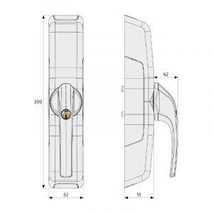 FCA3000 Maße Fensterantrieb