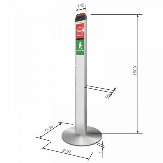 Elock2 Zutrittskontrolle für Supermarkt und andere Geschäfte Maße