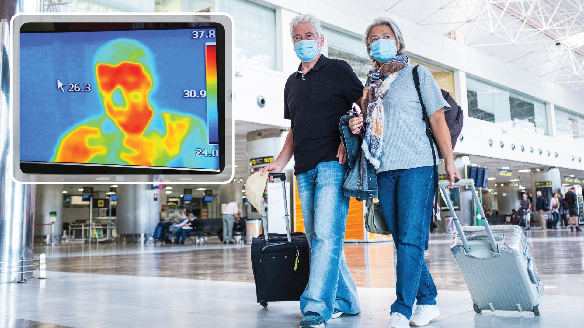 Körpertemperatur Messung durch Thermal- und Wärmebildkameras - Corona