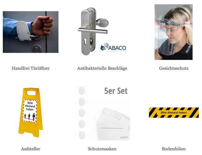 Hygieneschutz Produkte im Onlineshop