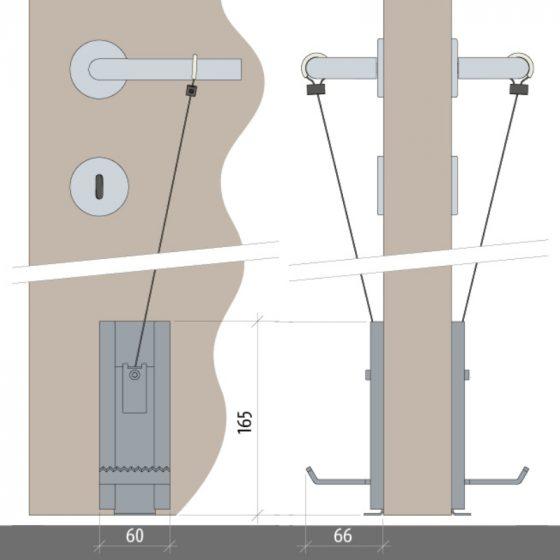 Handfrei Türöffner - Türen öffnen mit dem Fuß - Universell nutzbar - der Planet NoHander von Assa Abloy