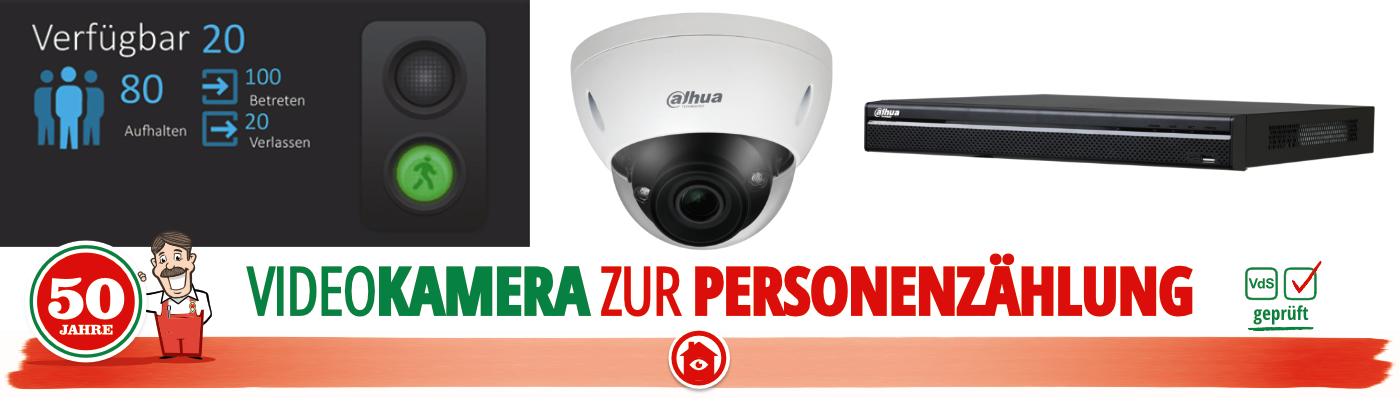 Kontrolle des Besucherstroms im ladengeschaeft durch Kameras mit Personenzählfunktion