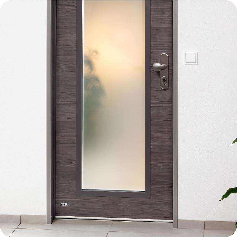 Wohnungstür mit Glaseinsatz Lichtausschnitt