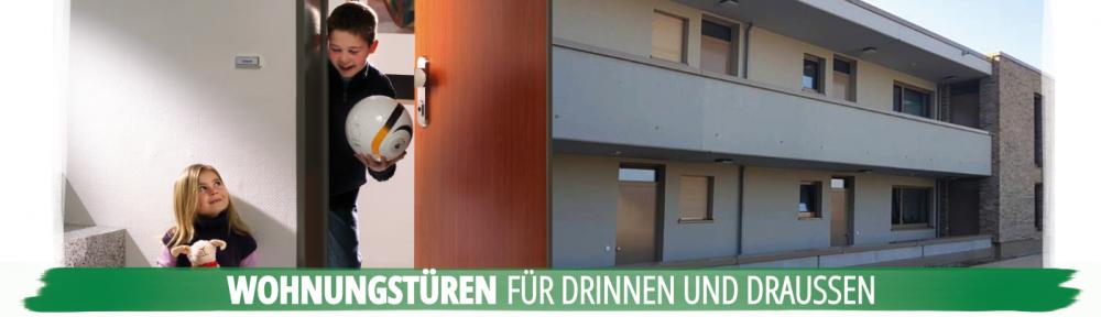 Wohnungstüren für Drinnen und Draussen Laubengang Mehrfamilienhaus