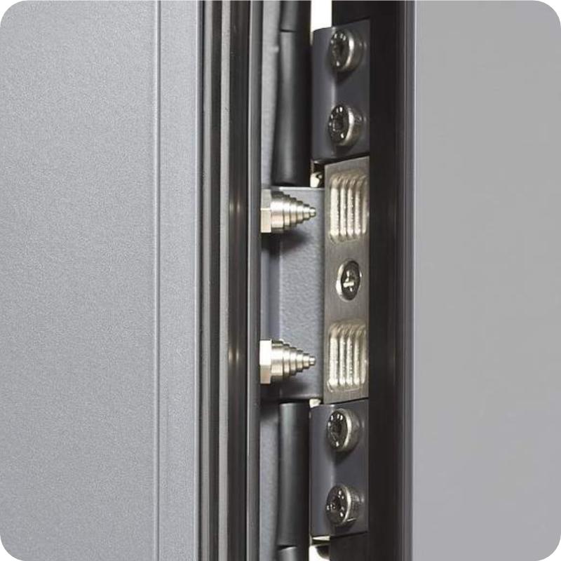 Sicherheitstür Aluminium Haustür mit Bändersicherung