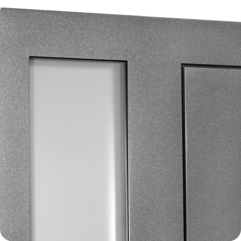Sicherheitstür Aluminium Haustür mit Eckverschweissung
