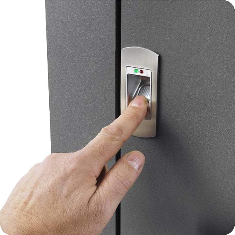 Sicherheitstür Aluminium Haustür mit Biometrie Fingerscan