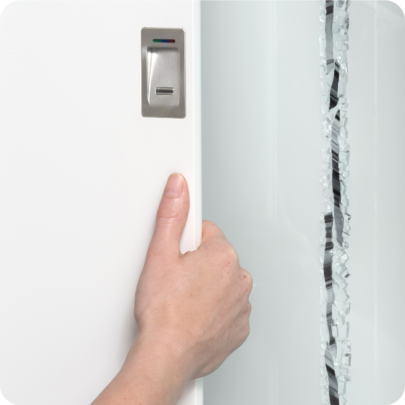 Sicherheitstür Aluminium Haustür mit integriertem griff