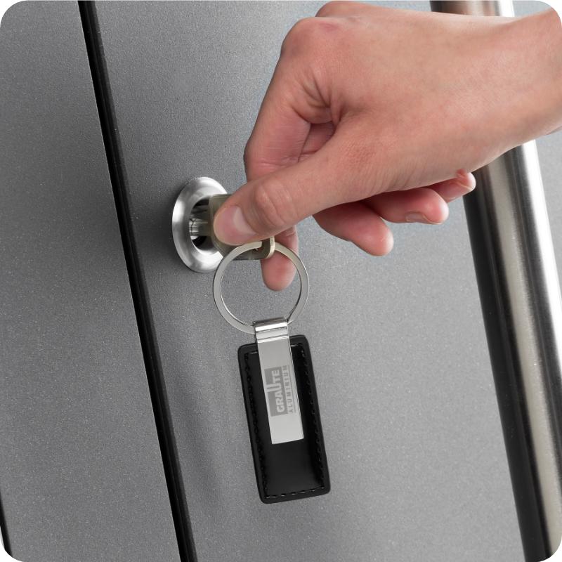Sicherheitstür Aluminium Haustür mit freier schliessung