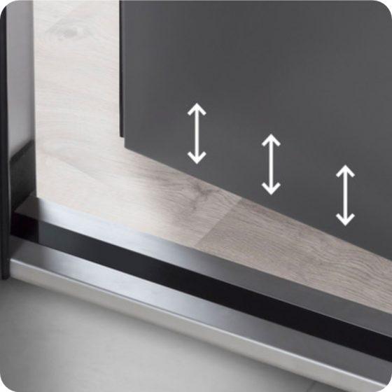 Sicherheitstür Aluminium Haustür mit Variabler Bodendichtung