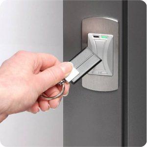 Sicherheitstür Aluminium Haustür Transponder