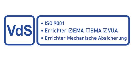 VdS zertifizierter Errichter Mechanische Absicherung EMA VÜA